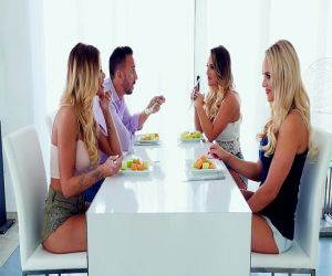 Asstastic Stiefmutter Kendra Lust und Stieftochter Chloe Couture teilen sich Schwanz