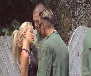 Outdoor-porno-Erlebnis für zwei Blondinen